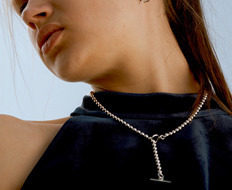 [usual ME] Silver Ball Chain Long Necklace (15%off)