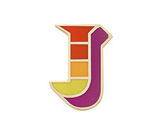 Stickery Initial Label J