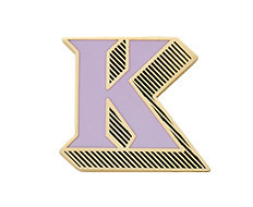 Stickery Initial Label K
