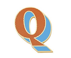 Stickery Initial Label Q (40%off)