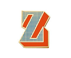 Stickery Initial Label Z