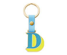 Stickery Initial Key Ring D