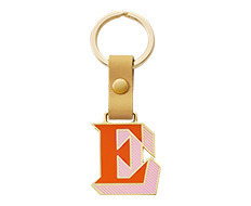 Stickery Initial Key Ring E