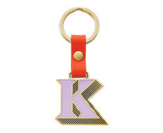 Stickery Initial Key Ring K