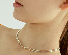 [usual ME] usual silver ball and chain necklace (15%off)