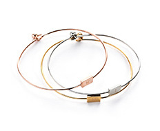 [usual ME] usual square initial thin bangle (50%off)