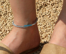 [usual ME] beads and chain anklet (50%off)