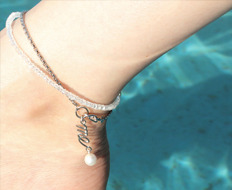 [usual ME] usual drop me pearl chain anklet (50%off)