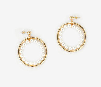 [Monday Edition] Pearl Circle Earrings (30%off)