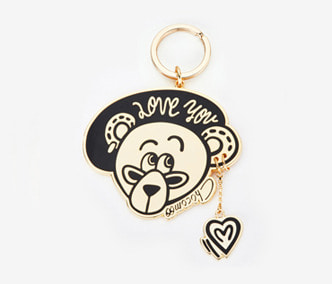 [ME x Chocomoo] Lovely teddy keyring