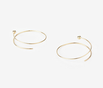 Twisted Circle And Ball Earrings BIG