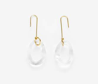[ME x Mowani] Dropped Circle Glass Earrings