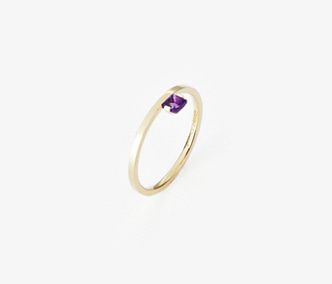 [PRECIOUS] Birthstone Ring Amethyst - February