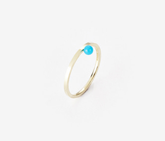 [PRECIOUS] Birthstone Ring Turquoise - December