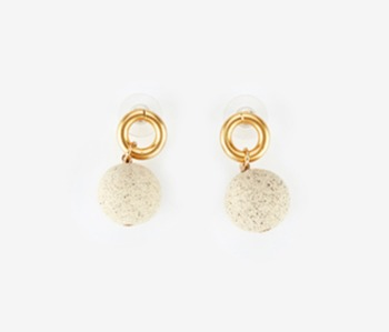 [Monday Edition] Ceramic Ball & Small Circle Earrings