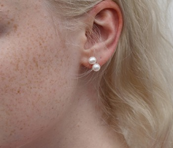 The 2 Pearls Earrings